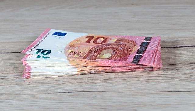 balíček euro bankovek
