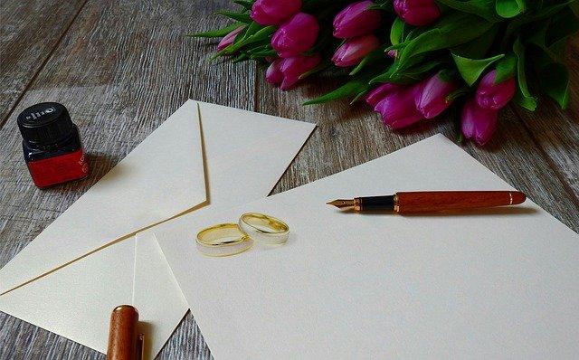 svatební oznámení prázdné
